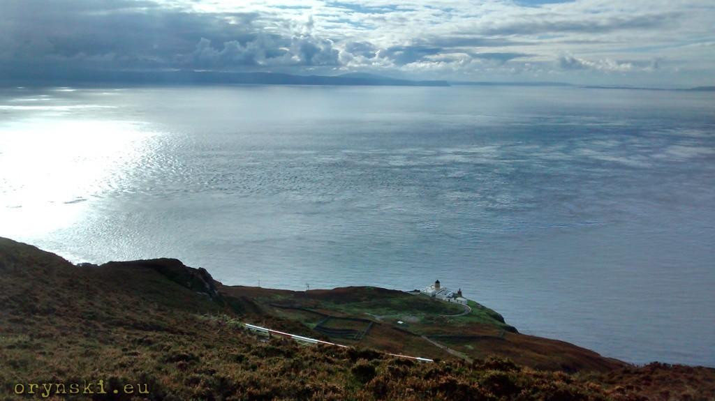 Mull of Kintyre - w oddali widoczne brzegi Irlandii
