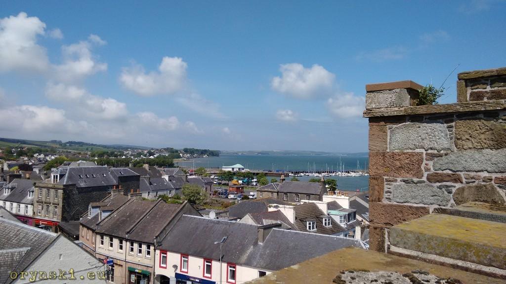Panorama Stranraer z zamku (Fot. Urszula Hałenda)