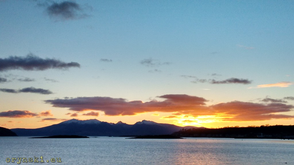 Zachód słońca nad Arran