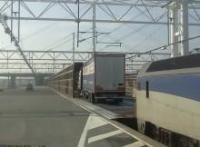Ciężarówka wjeżdżająca na pociąg w Eurotunelu