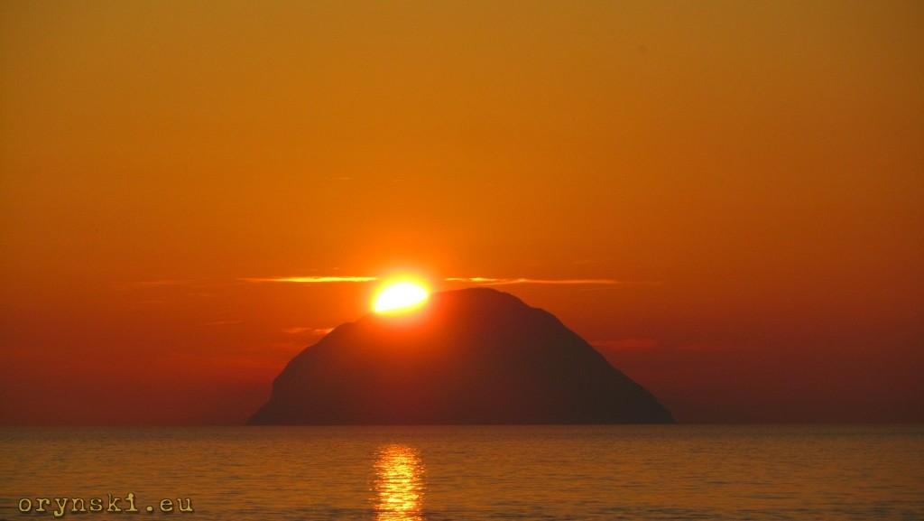 Zachód Słońca nad Ailsa Craig