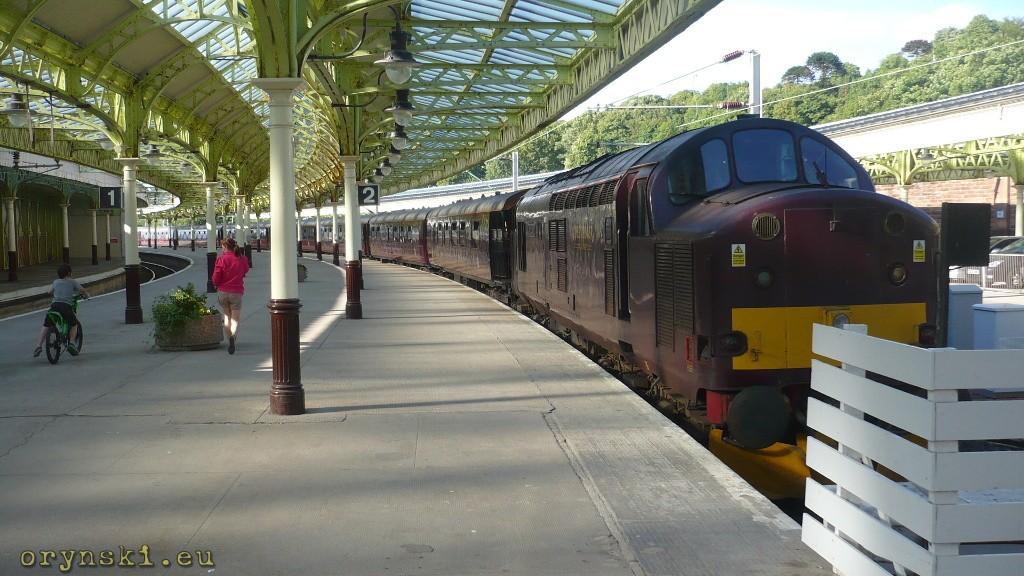Flying Scotsman na stacji w Wemyss Bay