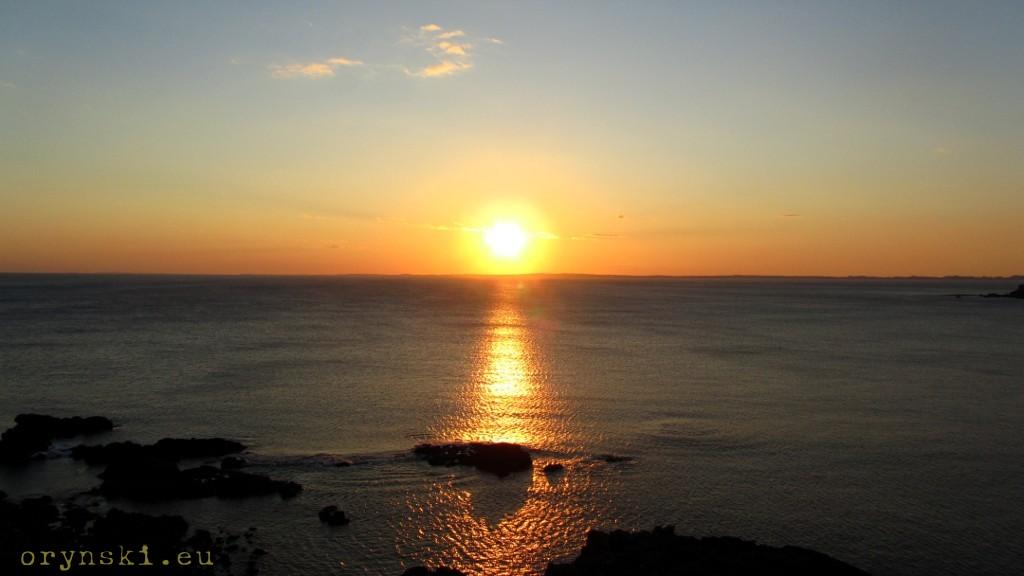 Zachód Słońca nad wyspą Coll