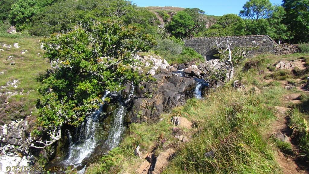 Wodospad Eas Fors Waterfall