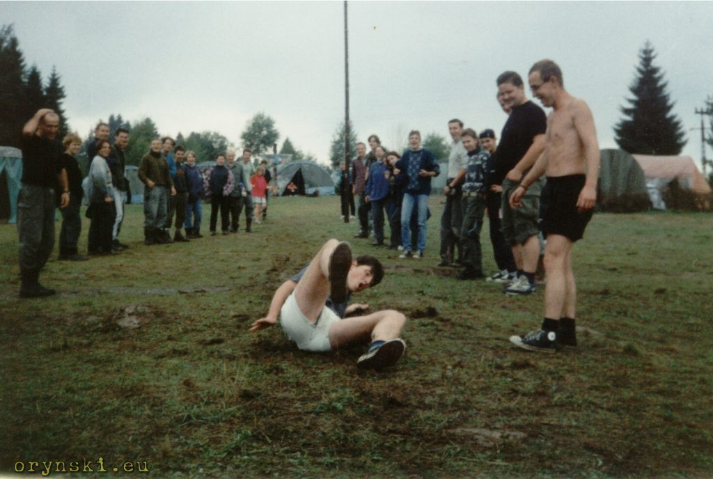 Zawody w ślizgu w dal na błocie, kurs drużynowych LAS, Czarna 1996